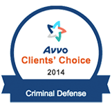 Avvo Clients Choice Award Criminal Defense